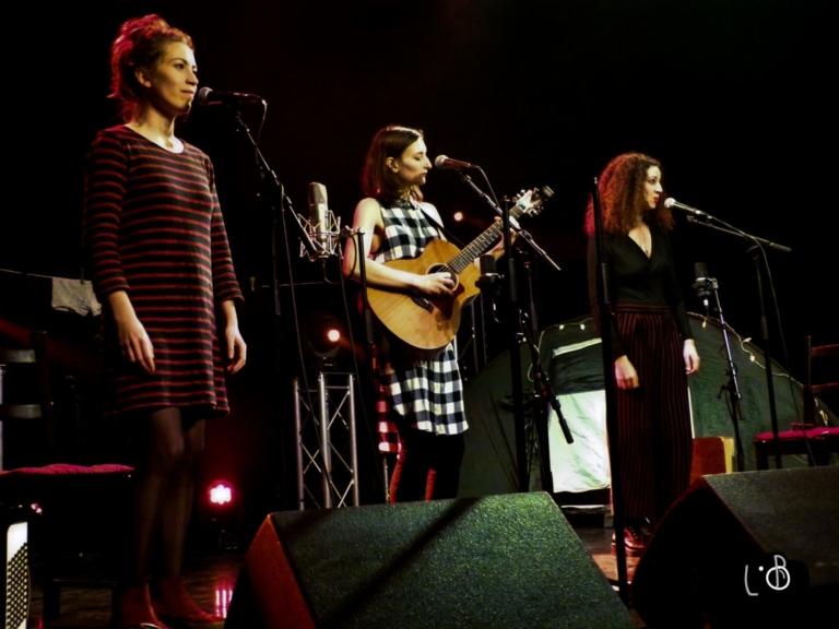 Le trio musical et pétillant Michel ou Rien sur scène, lors de son concert à la MJC de Villebon-Sur-Yvettes.